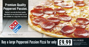 Picture of a Dominos leaflet
