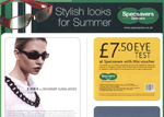 Image of a Leaflet Advertisement for Specsavers